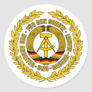 Bundesrepublik Deutschland / East Germany Crest Classic Round Sticker