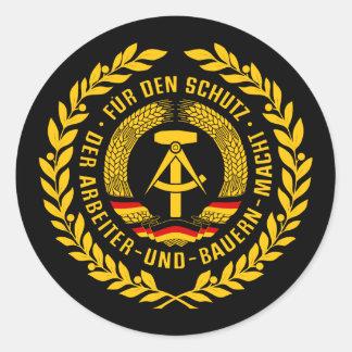 Bundesrepublik Deutschland / East Germany Wreath Classic Round Sticker