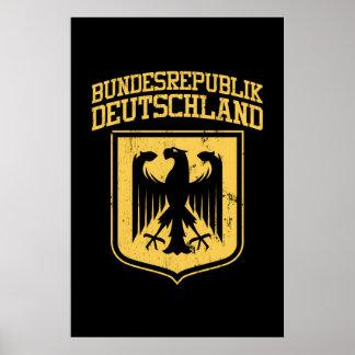 Bundesrepublik Deutschland / German Eagle Poster