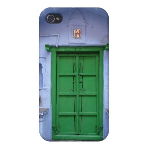 Bundi coloreó la puerta iPhone 4 funda