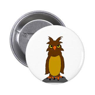 """Bundi"" The wise owl Pinback Buttons"