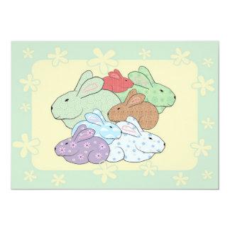 Bundle of Bunnies Baby Shower Invitation