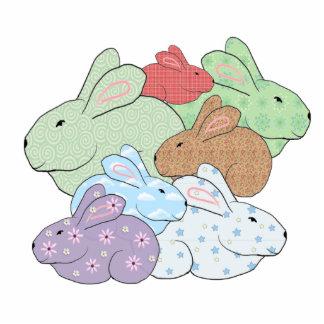Bundle of Bunnies Ornament Photo Cutout