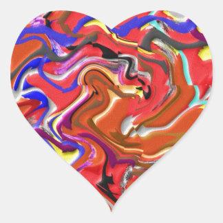 Bundle of Joy : Artistic Happy Artwork Heart Sticker