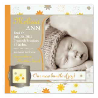 Bundle of Joy Birth Announcement Square