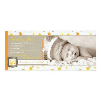 Bundle of Joy Birth Announcement Tall Card