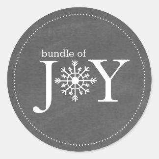 Bundle of Joy Chalk Snowflake Winter Baby Sticker
