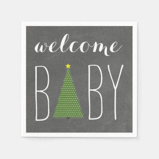 Bundle Of Joy Chalkboard Pumpkin Fall Baby Shower Paper Napkin