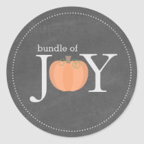 Bundle of Joy Chalkboard Pumpkin Fall Baby Sticker