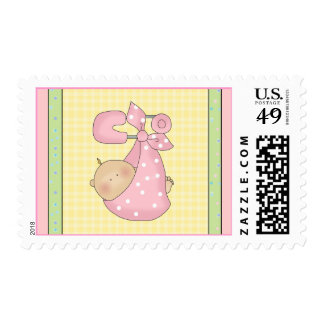 Bundle of Joy Girl Baby Shower Postage Stamps