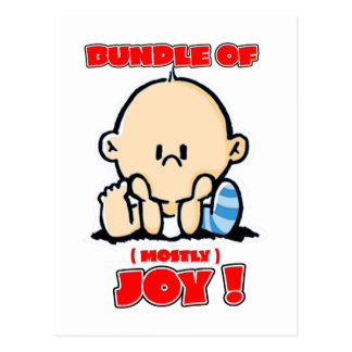 Bundle of Joy - Mostly, Cute and Funny for Babies Postcard