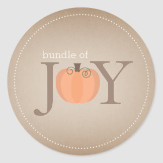 Bundle of Joy Neutral Pumpkin Fall Baby Sticker
