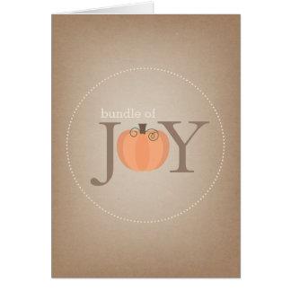 Bundle Of Joy Pumpkin Baby Card