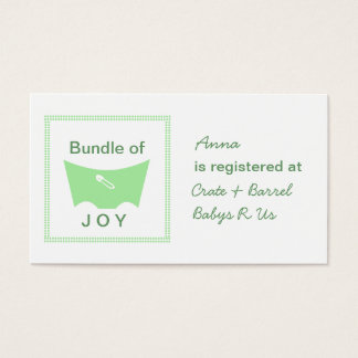 Bundle of joy registry card