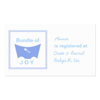 Bundle of joy registry card business card