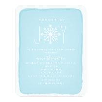 Bundle Of Joy Snowflake Baby Shower - Blue Invitation