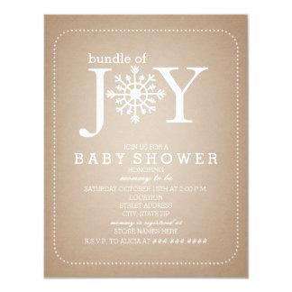 Bundle Of Joy Snowflake Baby Shower - Cardstock Card
