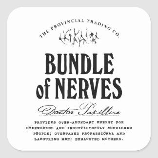 Bundle of Nerves - apothecary label