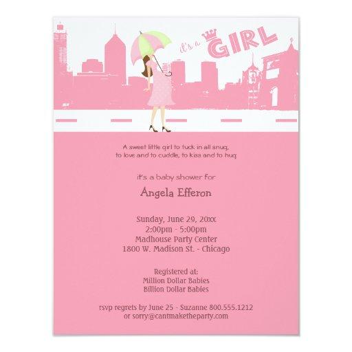 Bundle Of PINK Joy Baby Shower Invitation