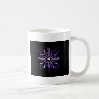 Bundled Blue Straw Fractal Art Star Coffee Mug