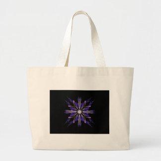 Bundled Blue Straw Fractal Art Star Large Tote Bag