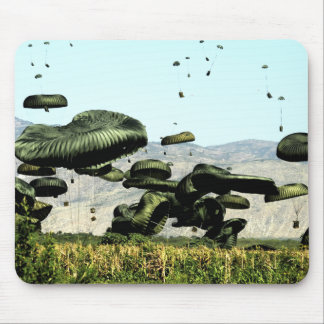 Bundles of food and water are air delivered mouse pad