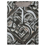 Bungalow-Hand Painted Abstract Brushstrokes Clipboard