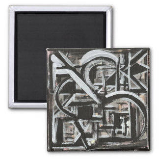 Bungalow-Hand Painted Abstract Brushstrokes Magnet