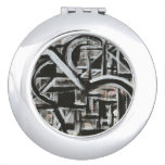 Bungalow-Hand Painted Abstract Brushstrokes Mirror For Makeup