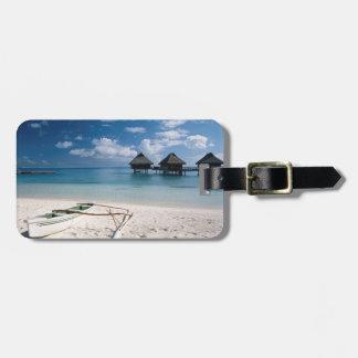 Bungalows from beach Motu Toopua Bag Tag