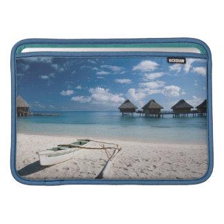 Bungalows from beach Motu Toopua MacBook Air Sleeves