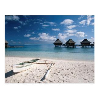 Bungalows from beach Motu Toopua Postcard