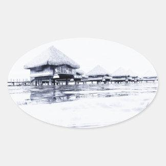 Bungalows Oval Sticker
