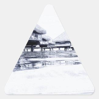 Bungalows Triangle Sticker