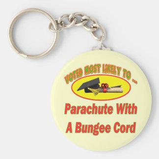 Bungee Cord Parachute Keychain