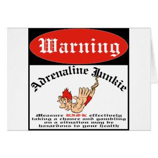 Bungee Jumper Adrenaline Junkie Card