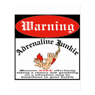 Bungee Jumper Adrenaline Junkie Postcard