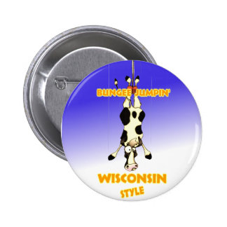 Bungee Jumpin' Wisconsin style 2 Inch Round Button