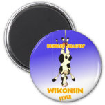 Bungee Jumpin' Wisconsin style Fridge Magnets