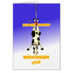 Bungee Jumpin' Wisconsin style Greeting Cards