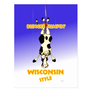 Bungee Jumpin' Wisconsin style Postcard
