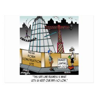 Bungee Jumping, $5.00 Postcard