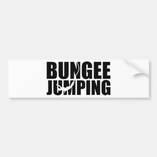 Bungee jumping bumper sticker