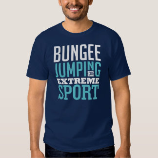Bungee Jumping Extreme Sport Graphic Art Tees