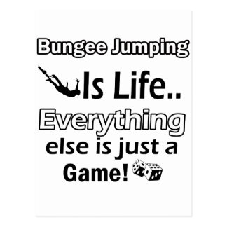 Bungee Jumping gift items Postcard