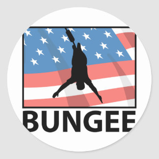 Bungee Jumping In America Classic Round Sticker