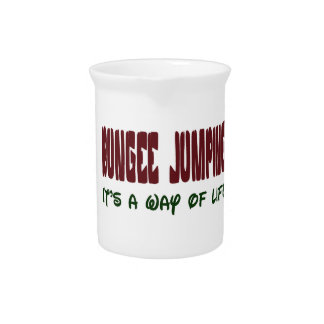 Bungee Jumping It's a way of life Beverage Pitcher