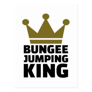 Bungee jumping king postcard