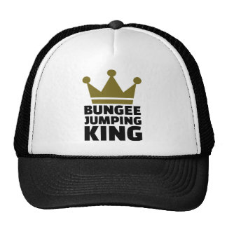 Bungee jumping king trucker hat