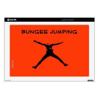 Bungee jumping laptop decal